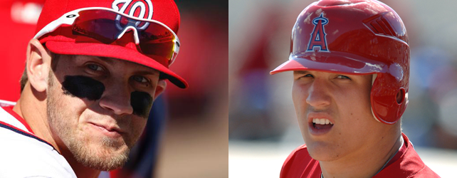 Mike Trout Bryce Harper news