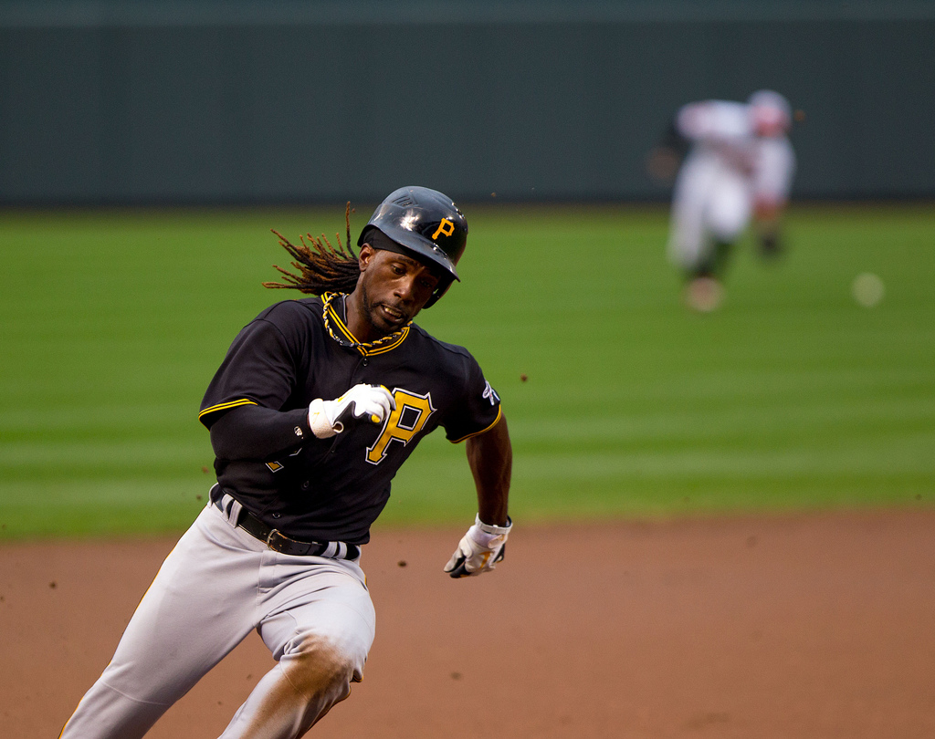 McCutchen is baseballs most valuable players, in salary if not in stats. Cutch is earning just $500,000 in an MVP-worthy season (photo Keith Allison / flickr)