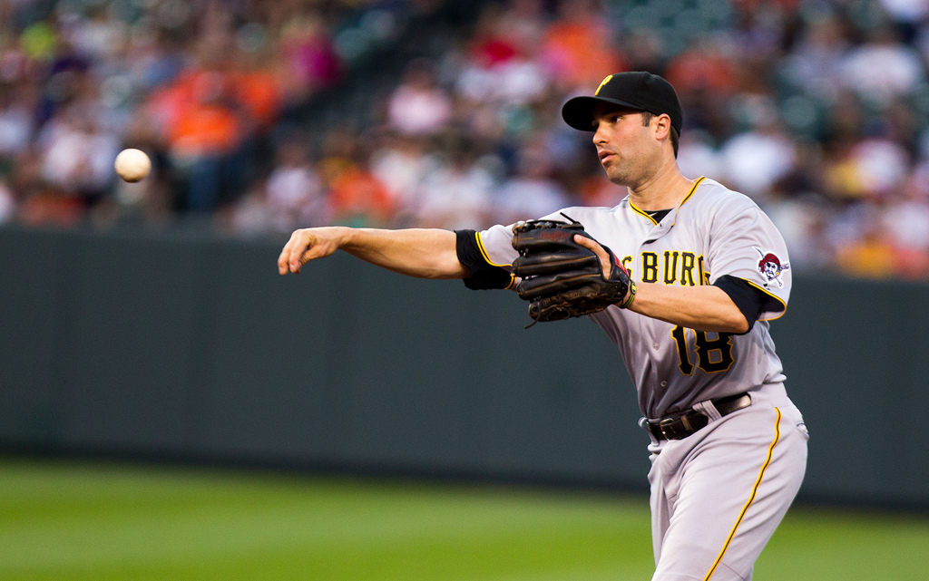 Neil Walker had a two-run home run in Pittsburgh's 6-2 win over the MLB-leading Reds Sunday (Keith Allison - flickr)