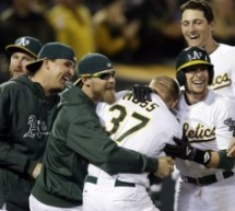 Brandon Moss Homers Twice Over 19 Innings, Including Walk Off