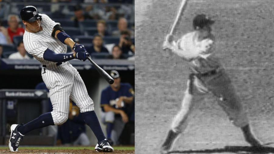 Aaron Judge breaks Joe DiMaggio's franchise record for rookie home runs