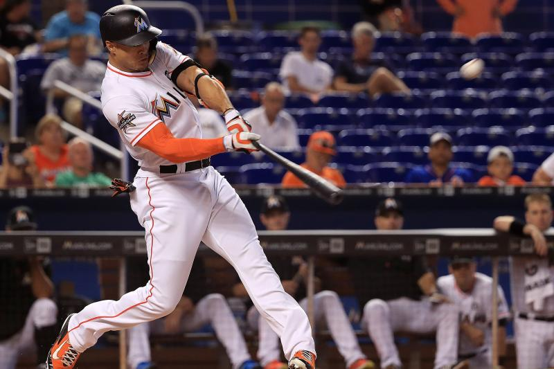Giancarlo Stanton Homers in 5th Straight Game, Sets Marlins Single-Season Record